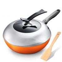 炒锅铁锅电磁炉通用平底锅具厨房