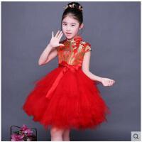 儿童唐装女童旗袍中国风童装演出服小孩旗袍公主裙 儿童服装支持礼品卡支付