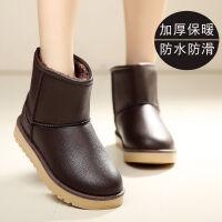 防水雪地靴女中筒学生韩版冬季保暖棉鞋防滑厚底百搭加绒加厚短靴