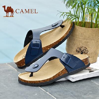 骆驼牌男鞋 新品时尚简约舒适凉拖鞋沙滩鞋男士人字拖