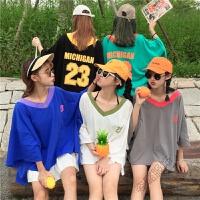 五人姐妹装女生篮球衣闺蜜装bf风韩版双拼色上衣学生创意t血衫夏 均码