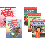 Oxford Phonics World Level 5 Reader牛津自然拼读5册 教材+练习册+故事读物 英文原