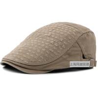 棉质贝雷帽男士大码帽子批发春秋季贝雷帽英伦复古前进帽男帽子