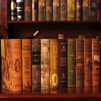 欧式风格仿真书装饰品摆件摄影道具书 样板房书柜家居客厅复古装扮饰品假书模