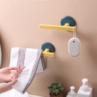 免打孔粘贴式卫生间浴室浴巾毛巾架 厨房壁挂抹布毛巾架