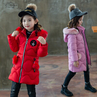 女童冬装外套女孩棉袄中长款