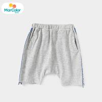 【1件3折】马卡乐童装22夏季新款男宝宝侧变织带复古运动中小童双口袋中裤