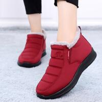 老北京布鞋女棉鞋冬中老年加绒加厚保暖妈妈鞋软底防滑老人奶奶鞋