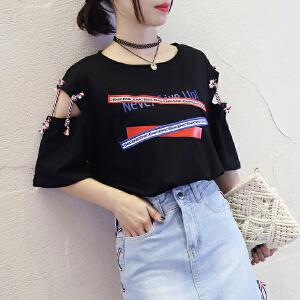 2018新款夏装短袖t恤女学生宽松韩版ulzzang体恤韩范半袖上衣