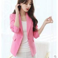 小西装女 外套女新款韩版修身小西装外套女士大码长袖时尚显瘦西服