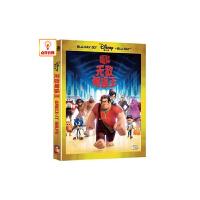 动画片 无敌破坏王 3D 2D BD50 蓝光碟 正版迪士尼