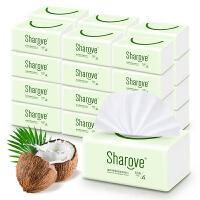 喜朗 居家椰果抽纸3层112抽 24包椰果本色 整箱装 纤柔抽取式面巾纸