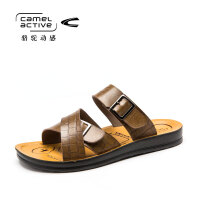 Camel Active/骆驼动感男士真皮日常休闲鞋沙滩鞋男两用凉鞋拖鞋