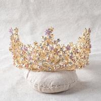 女童头饰儿童礼服皇冠饰品迪士尼公主王冠花童演出发饰主持人发饰