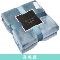 北美法兰绒毛毯被子天薄款午休空调毯珊瑚绒午睡沙发毯