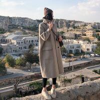 双面羊绒大衣女中长款2018新款时尚秋冬流行赫本黑色毛呢外套