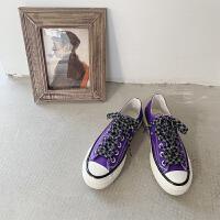 帆布鞋女2019新款学生韩版潮复古港味ins板鞋潮