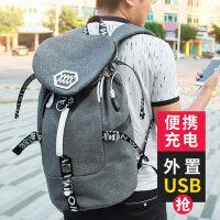 新款多功能韩版学生书包旅行包 欧美双肩男女背包电脑包帆布双肩包