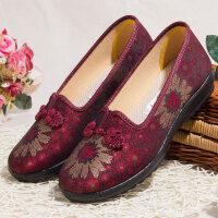 女士老北京布鞋女新款老人太太奶奶鞋平底休闲鞋子中老年妈妈单鞋