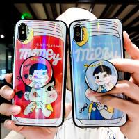 炫光牛奶妹iPhone7plus手机壳苹果x网红同款i8情侣款iphone6splus男女潮六个性防 iPhone 7