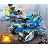 �e木男孩子科技�r代�和�塑料�事科幻拼�b玩具