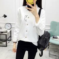 №【2019新款】冬天时尚美女穿的白色打底衫学生衬衣纯色衬衫女长袖职业