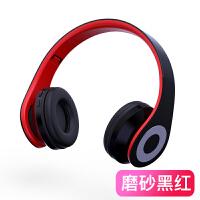 耳机头戴式无线蓝牙重低音运动耳麦插卡手机电脑FM 标配