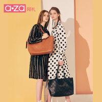 【立减100】2019新款时尚女包软皮简约单肩包女大包包购物袋大容量学生托特包