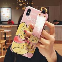 Disney/迪士尼iphonexs max手机壳8X可爱硅胶挂绳XS史迪仔保护套苹果7/8plus 6/6s 腕带