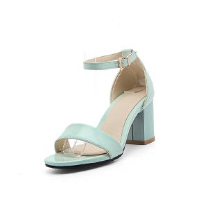 O'SHELL欧希尔夏季上新007-77-1欧美粗跟高跟女士凉鞋
