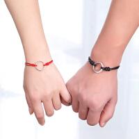 情侣手链一对男女 学生简约个性红绳本命年属狗礼物