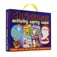 Christmas Acticity Carry Case 圣诞节活动4册精装手提礼盒 儿童圣诞节日礼物 英文原版