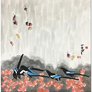 贾平西《麻雀》著名画家