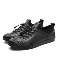 品牌男士英伦皮鞋真皮休闲鞋潮流透气夏季男鞋韩版板鞋百搭鞋子男潮鞋