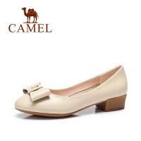 Camel/骆驼女鞋 春季新款 文艺有范 时尚优雅浅口单鞋