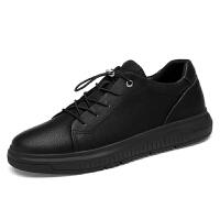 品牌男鞋春季内增高板鞋厚底耐磨真皮日常休闲皮鞋新品低帮鞋大码47码