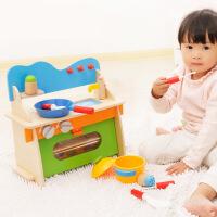 木丸子儿童过家家早教玩具 厨房木制玩具 宝宝厨具餐具套装