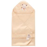 班杰威尔 纯棉新生儿抱被夏季薄款彩棉婴儿包被包巾有机棉初生宝宝抱毯