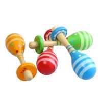 木制沙球沙锤奥尔夫乐器1-3岁半婴儿童幼儿园周岁宝宝玩具