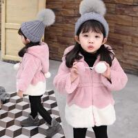 女童秋冬装毛毛衣服外套宝宝上衣