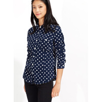 【1件3折到手价:28.5】美特斯邦威冬装新款女复合面料灯芯绒衬衫223671