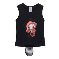 【加拿大童装】 GagouTagou女童宝宝短袖T恤1-2蝴蝶结卡通打底衫3-5岁小童夏装儿童