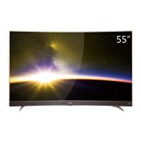 TCL 55P3F 55英寸 曲面30核智能平板液晶电视 超窄金属边框 黄金曲率 玫瑰金