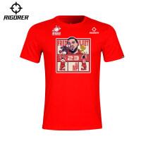 准者T恤季范乔丹中国行主题文化纪念短袖圆领宽松篮球运动休闲衫