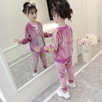 女童秋装运动套装小学生女孩洋气公主三件套