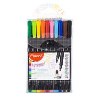 马培德彩色纤维细线笔 中性笔水性笔 勾线笔草图笔彩色工笔