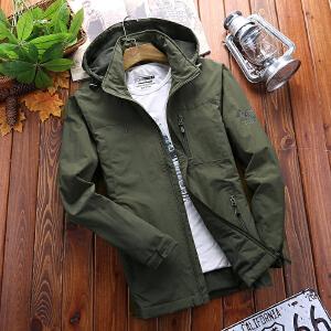 户外男士夹克秋冬摇粒绒保暖外套男士休闲厚款冲锋衣功能上装男装外衣