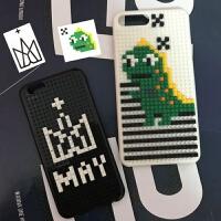 五月天同款diy乐高拼图苹果积木手机壳xsmax小恐龙iphone6/78plus iPhone6/6s 五月天