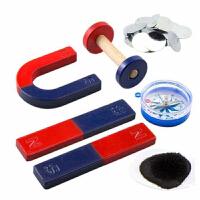 教学大号磁铁套装 学生科普实验教学 条形/圆环/吸铁石/ U型/马蹄型 指南针 磁粉铁片