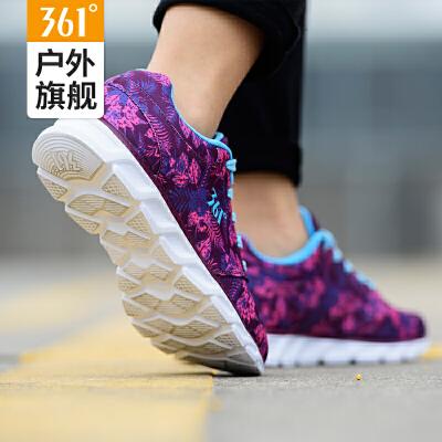 361度女鞋运动鞋新款跑鞋361迷彩印花轻便百搭休闲跑步鞋